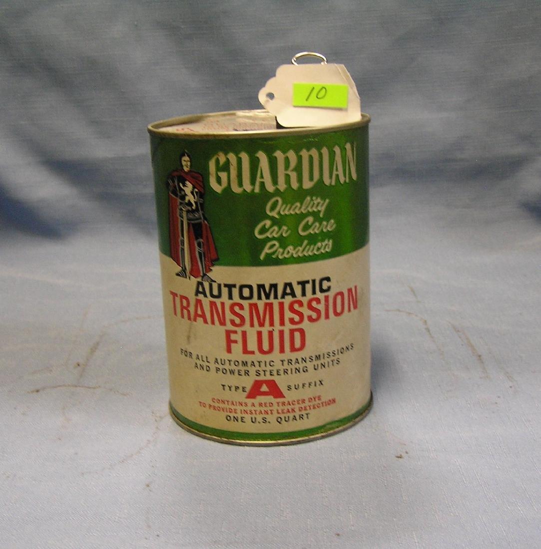 Vintage Guardian transmission fluid can