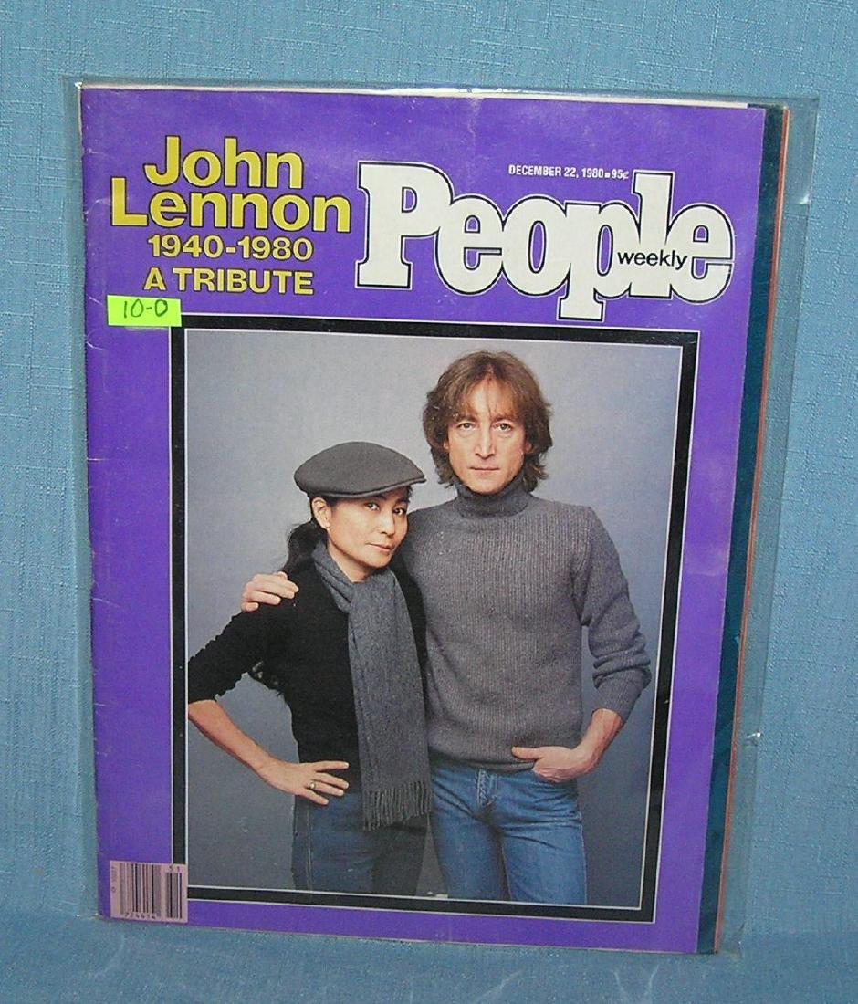 John Lennon and Yoko Ono on People magazine