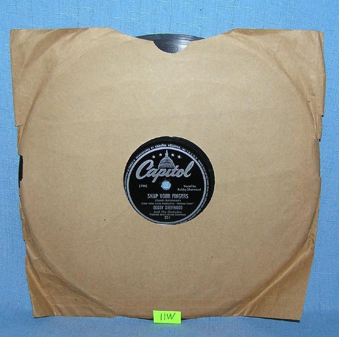 Bobby Sherwood vintage 78 RPM record