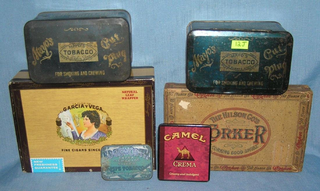 Group of 6 early and vintage smoking/tobacco