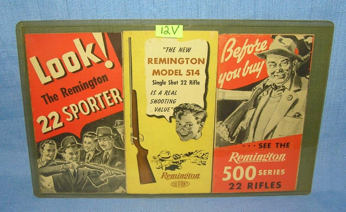 Group of 3 Remington rifle and ammo brochures