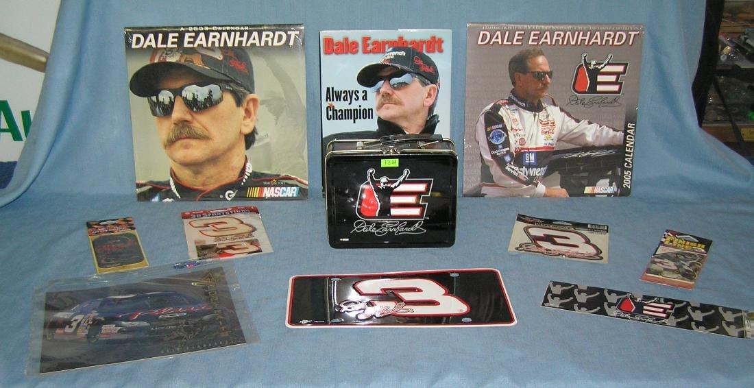 Large group of Dale Earnhardt Sr NASCAR collectibles
