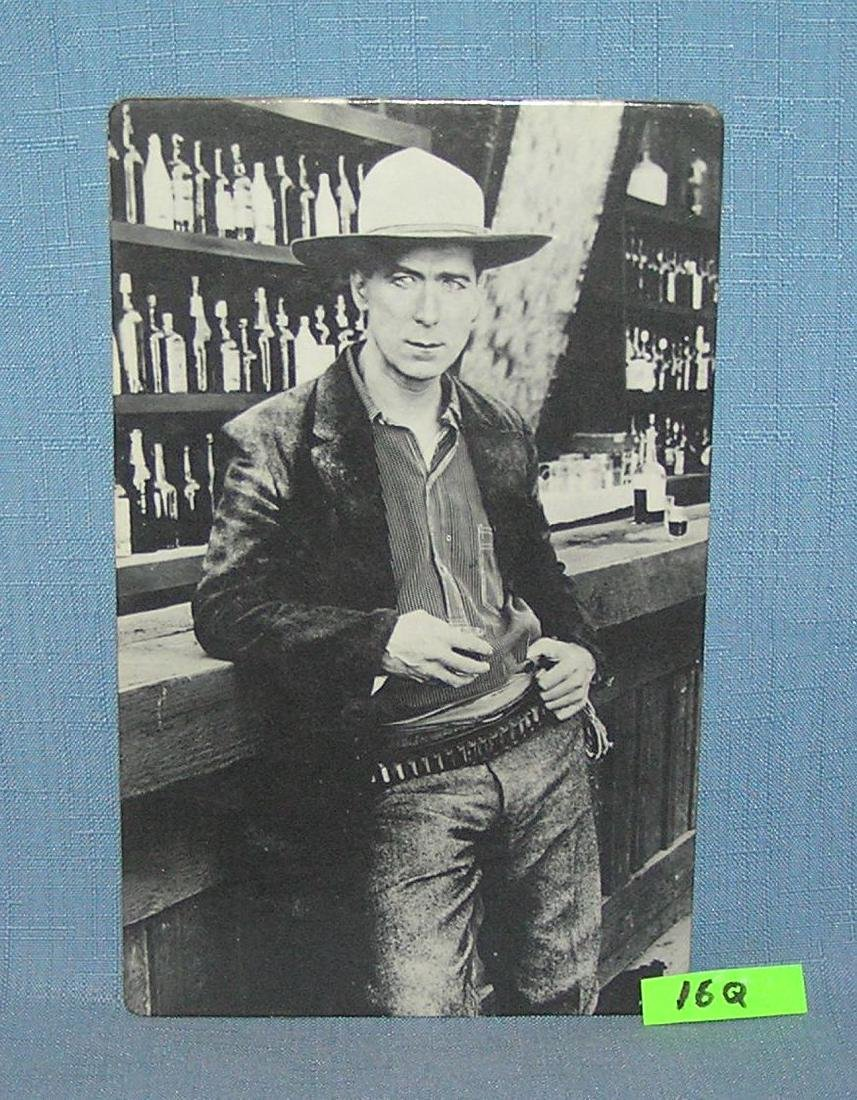 William S. Hart western oversized photo post card