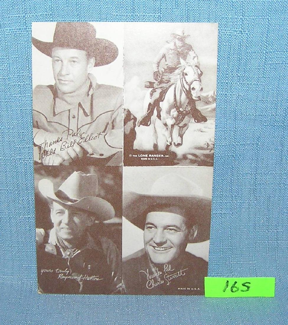 Lone Ranger and others arcade exhibit card