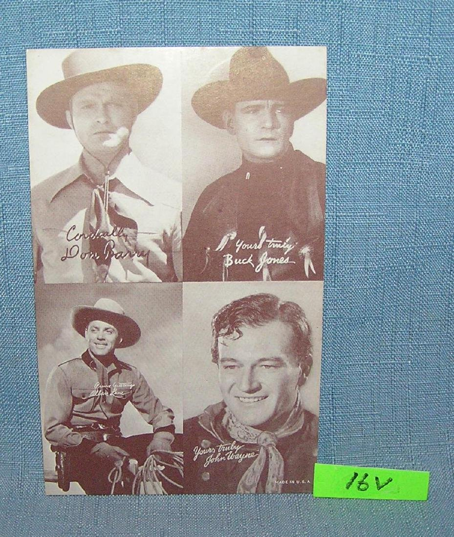 John Wayne others arcade exhibit card