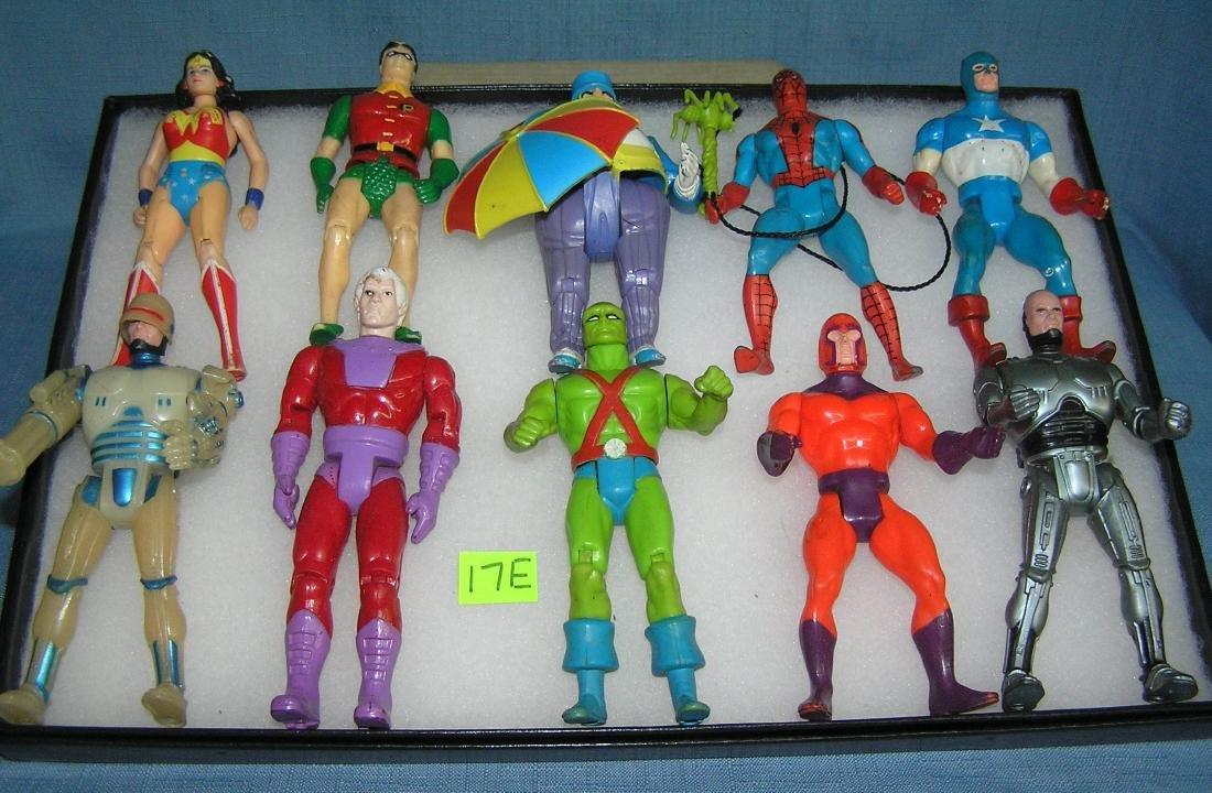Vintage Superhero and villain action figures