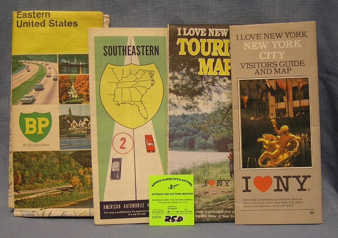 Group of Vintage automotive maps