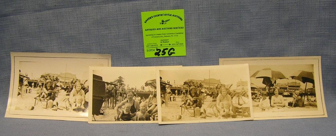 Group of early Coney Island photos