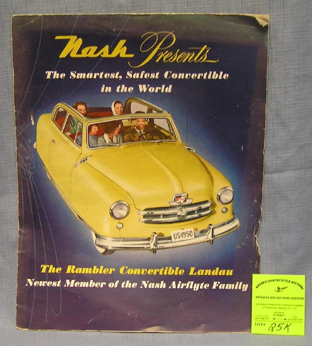 Vint. Nash Rambler advertising catalog/poster