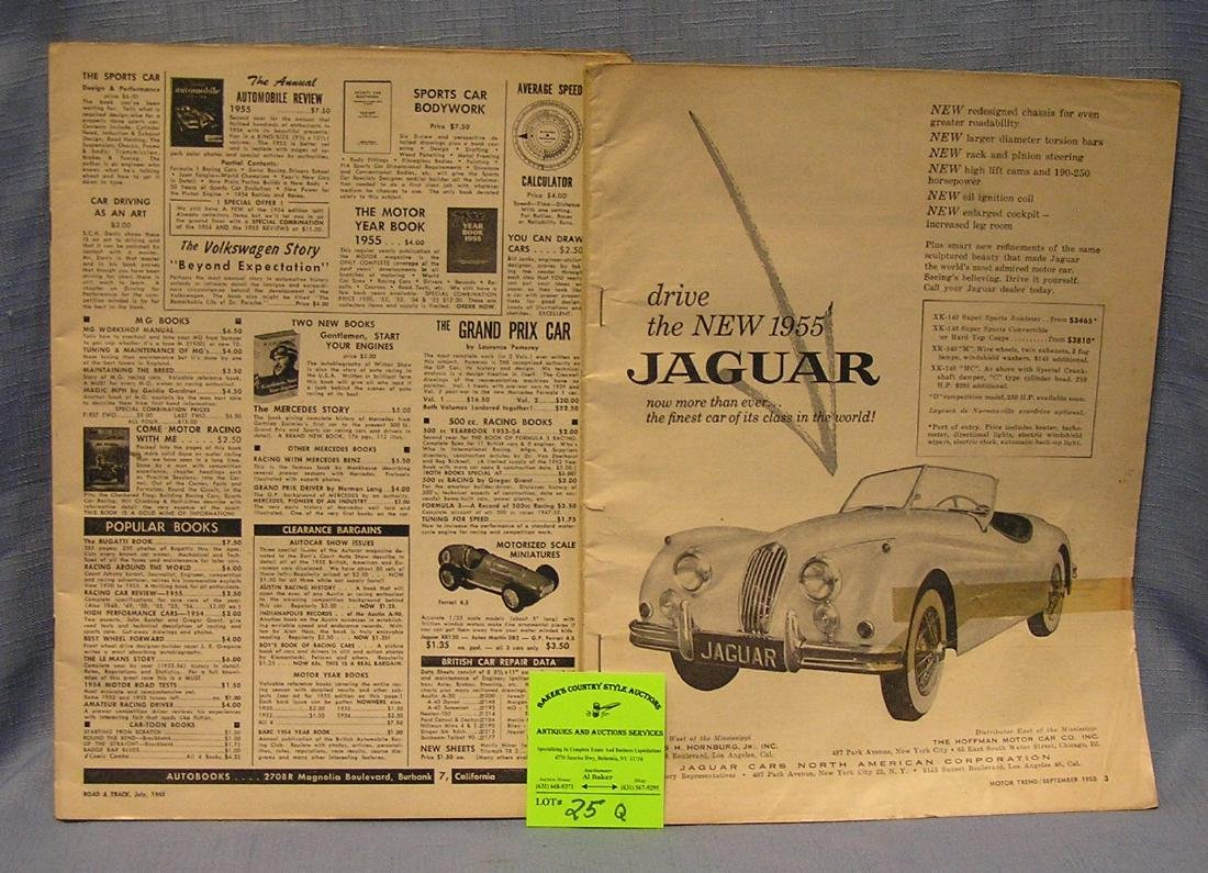 Early automotive magazines both dated 1955