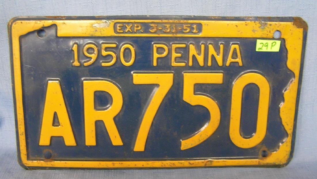 Antique license plate, PA