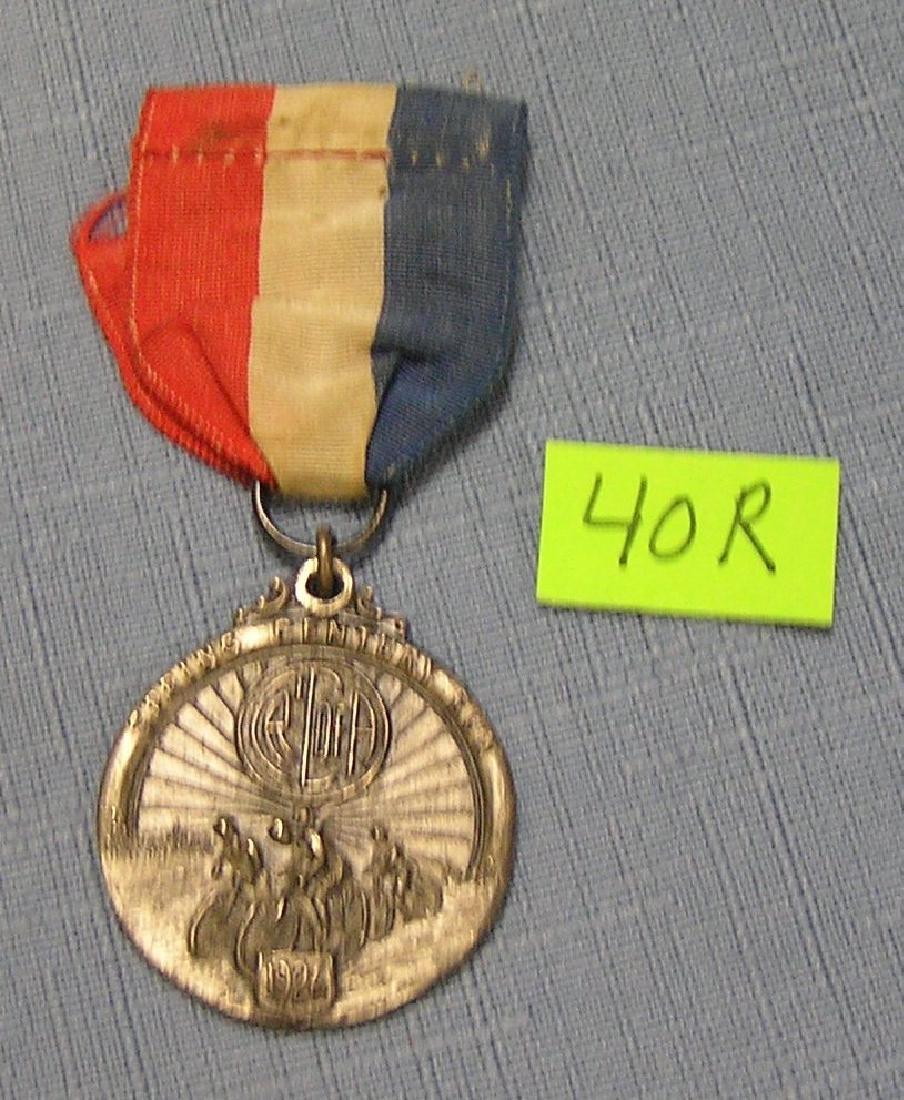 Spring Century bicycle run medal and ribbon