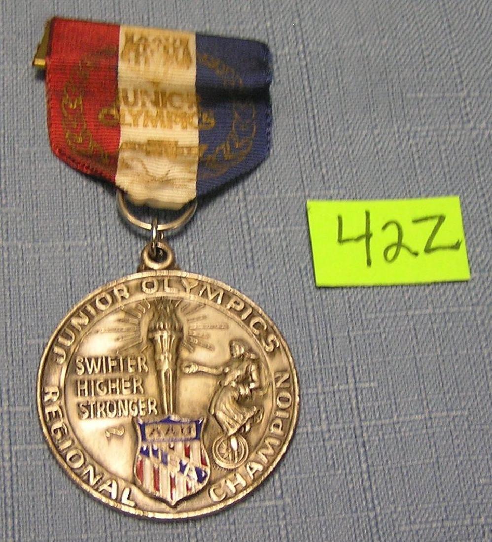 Vint. Jr. Olympics silver award medal and ribbon