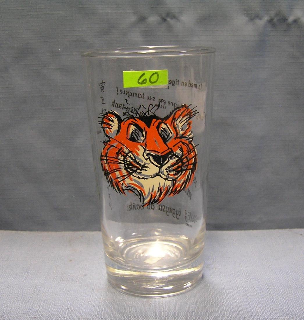 Vintage Exxon advertising drinking glass
