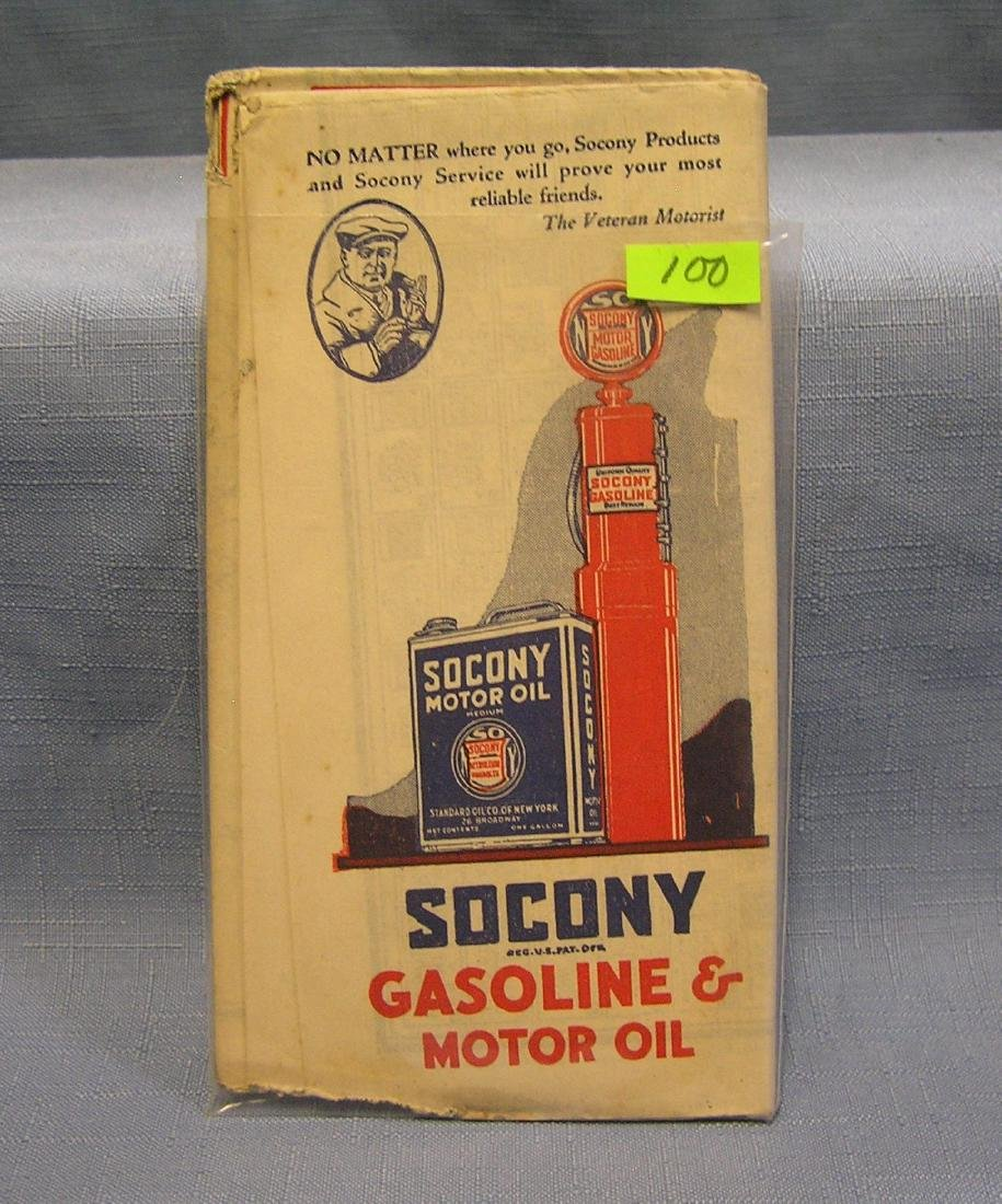 Antique Sucony Gas road map