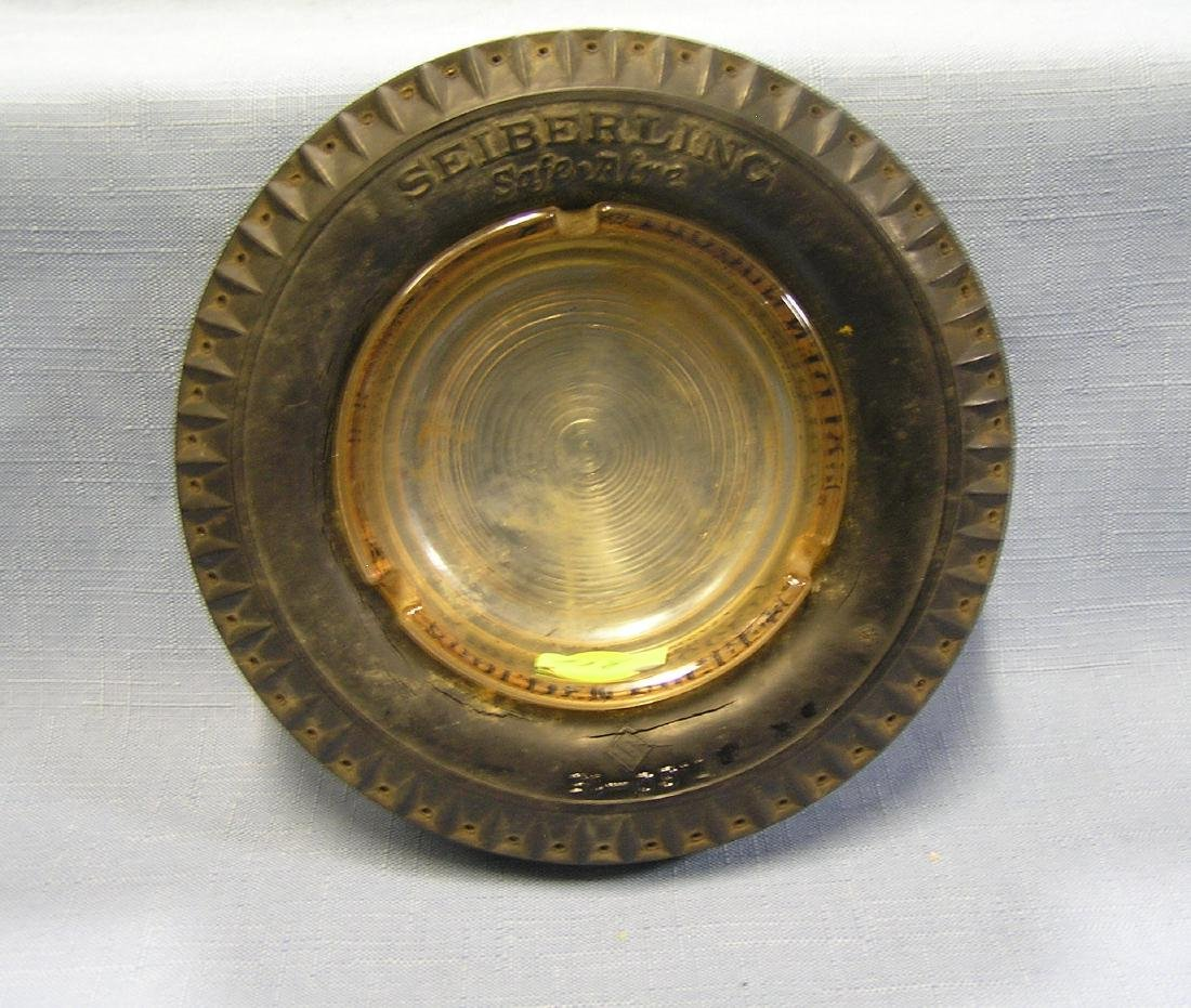 Vintage Seiberling advertising ash tray