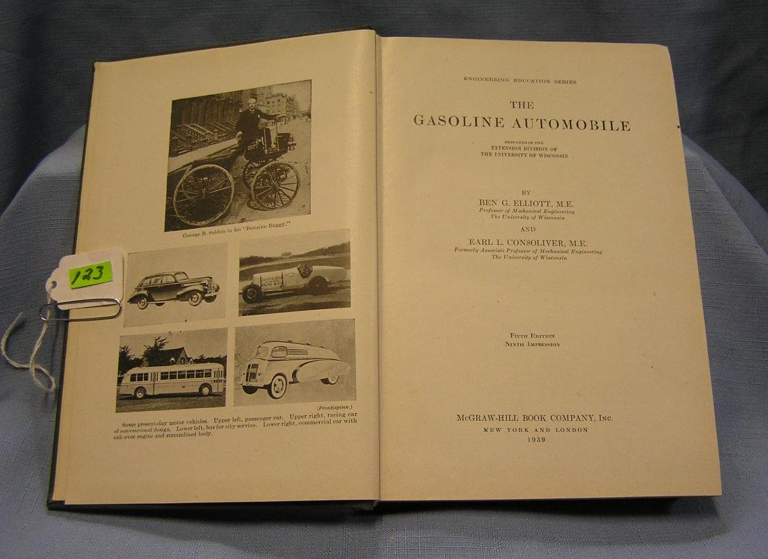 Antique book: The Gasoline Automobile 1939