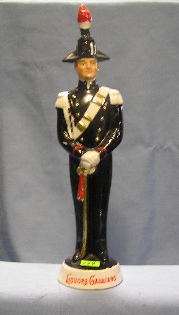 Porcelain Italian soldier liquor decanter