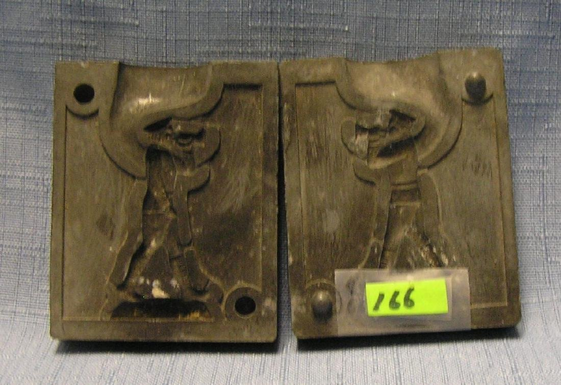 Antique toy soldier casting mold