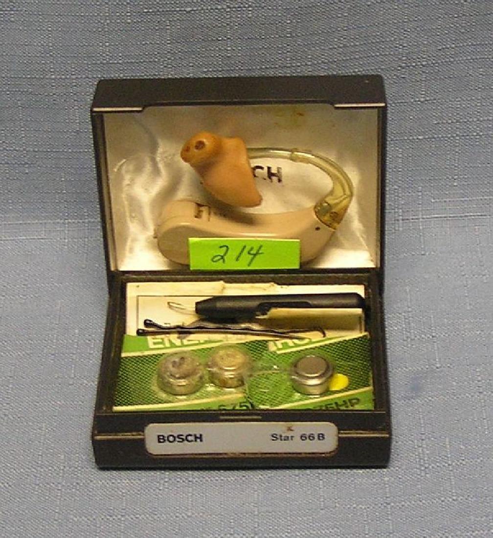 Vintage Bosch hearing aid kit