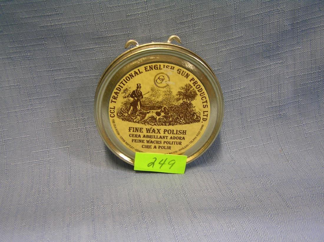 English gun wax polish tin