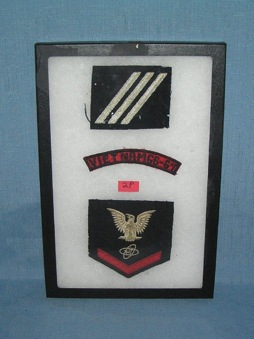 Group of Vietnam veterans military patches and insignia