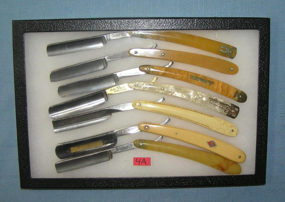 Great early collection of straight razors