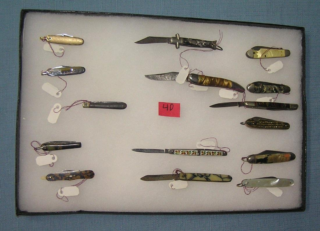 Great Collection of early miniature pocket knives