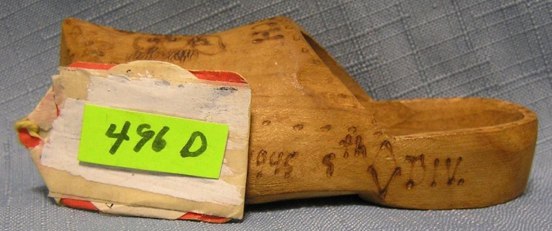 Antique Czech wooden shoe