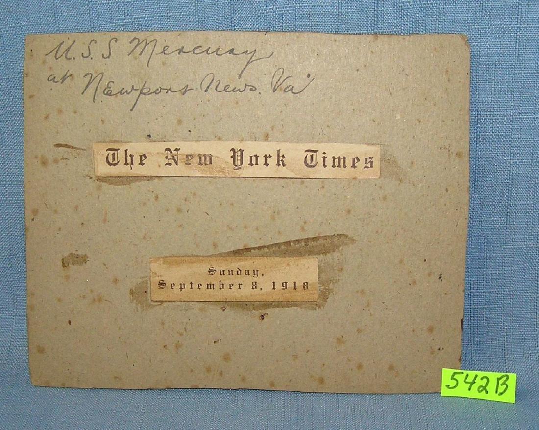USS Mercury early NY Times photo