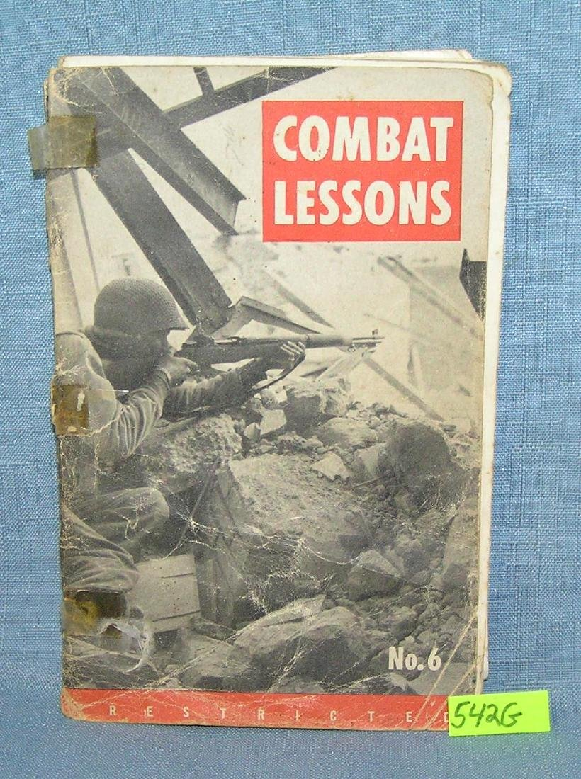 WWII combat lessons book