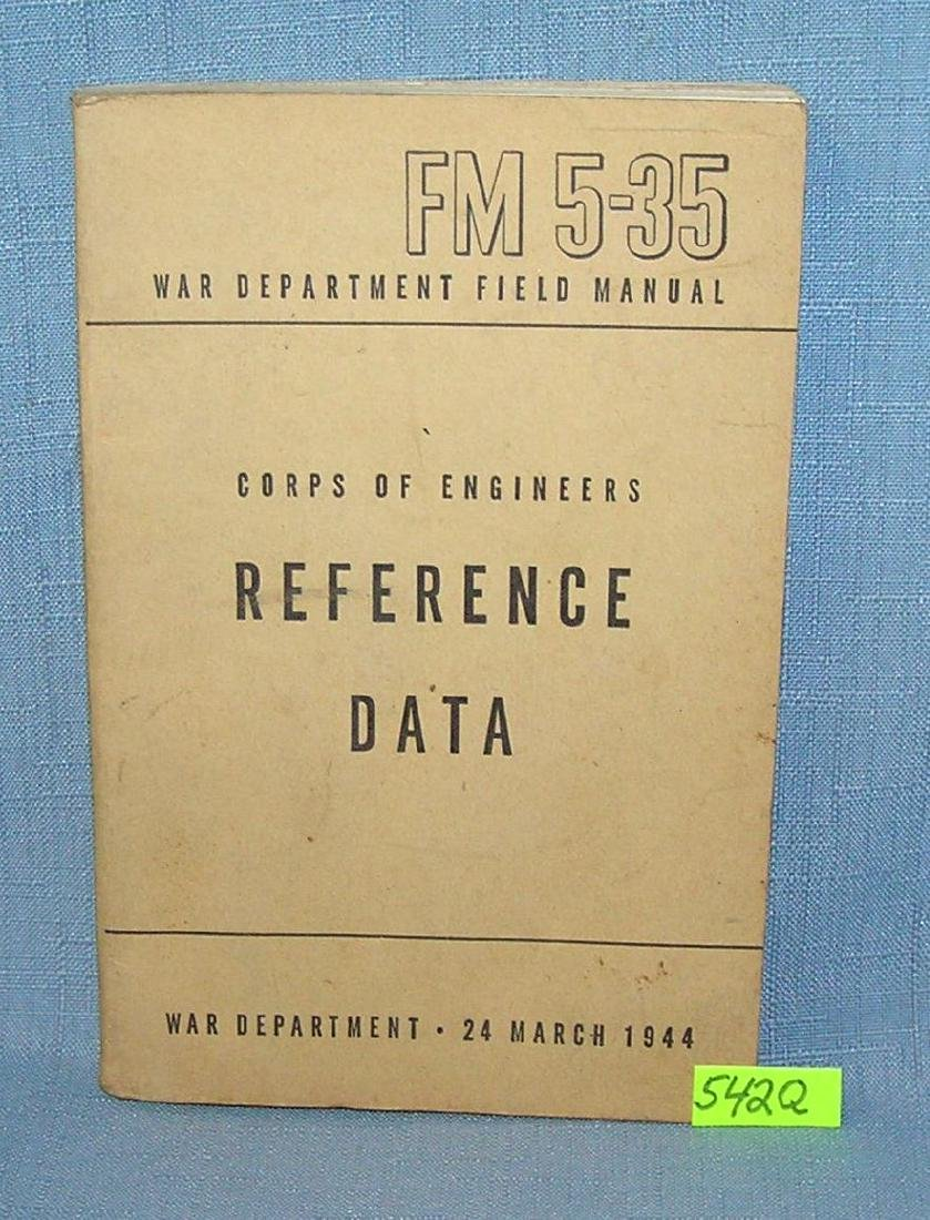 WWII Corp of engineers reference data book