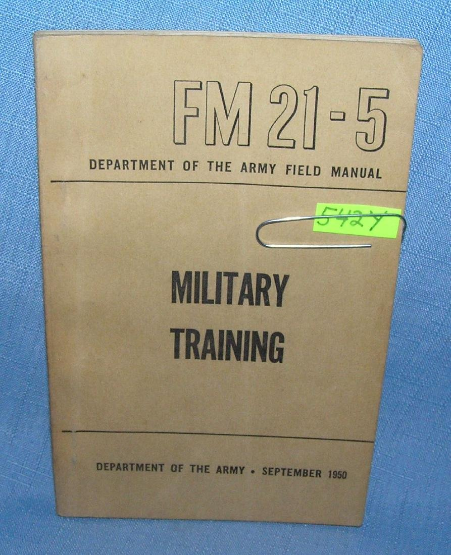 Military training Dept. of the Army field manuel