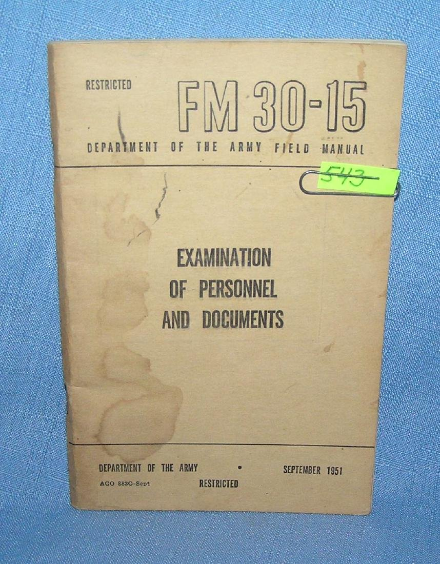 Examination of personnell and documents