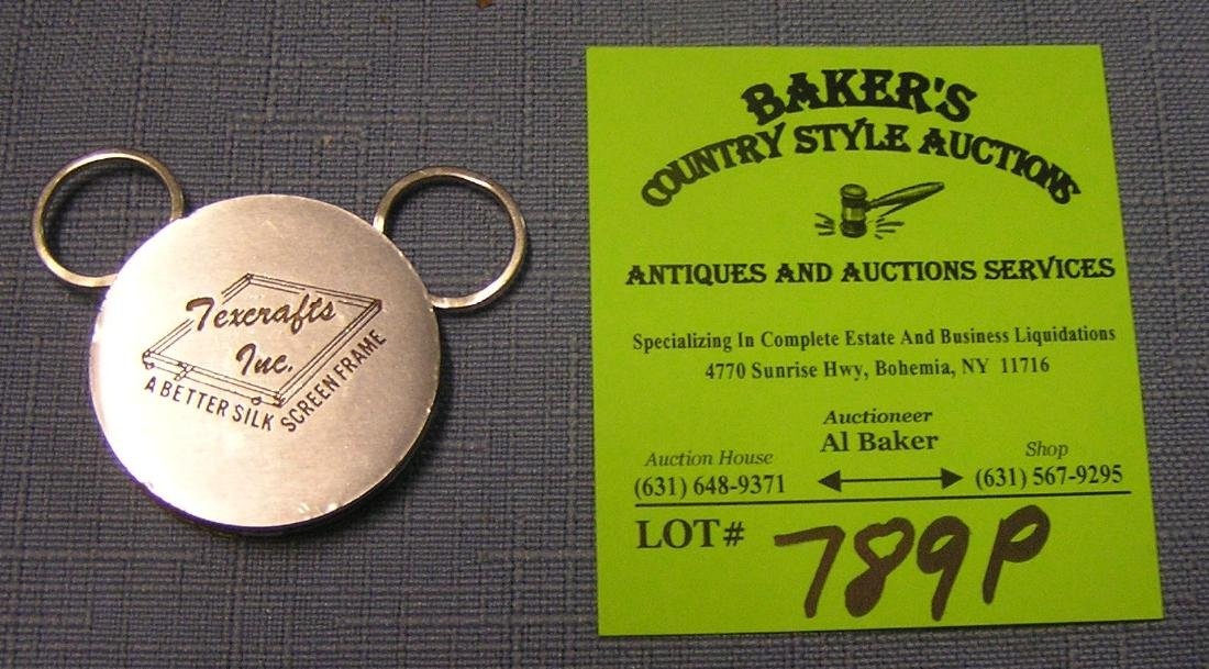 Tex Crafts Inc. advertising key chain