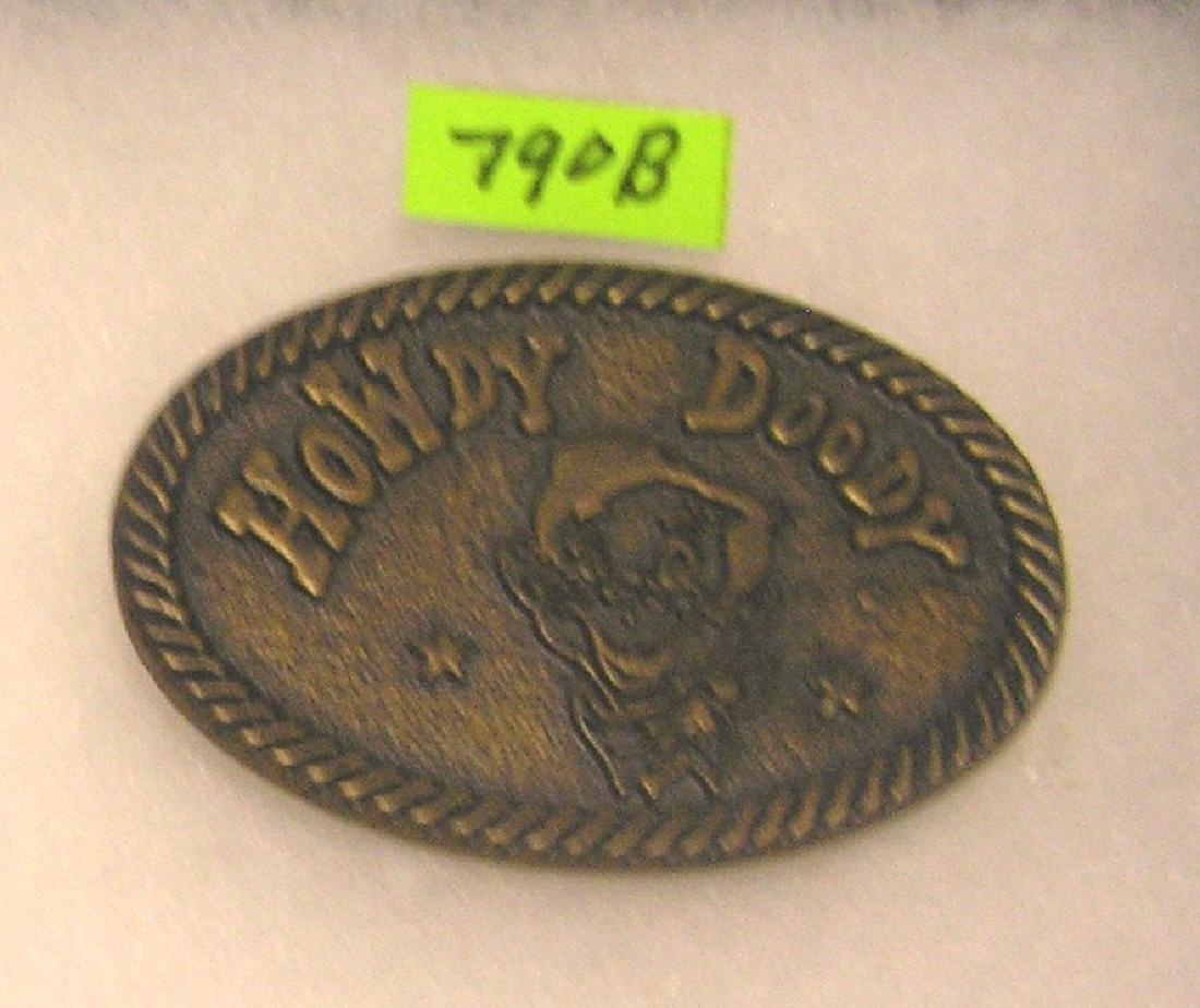Vintage Howdy Doody brass belt buckle
