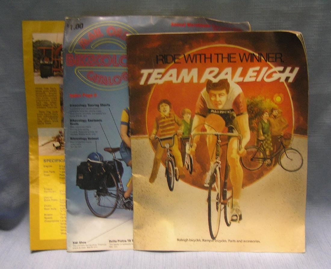 Vintage bicycle and accessories catalogs