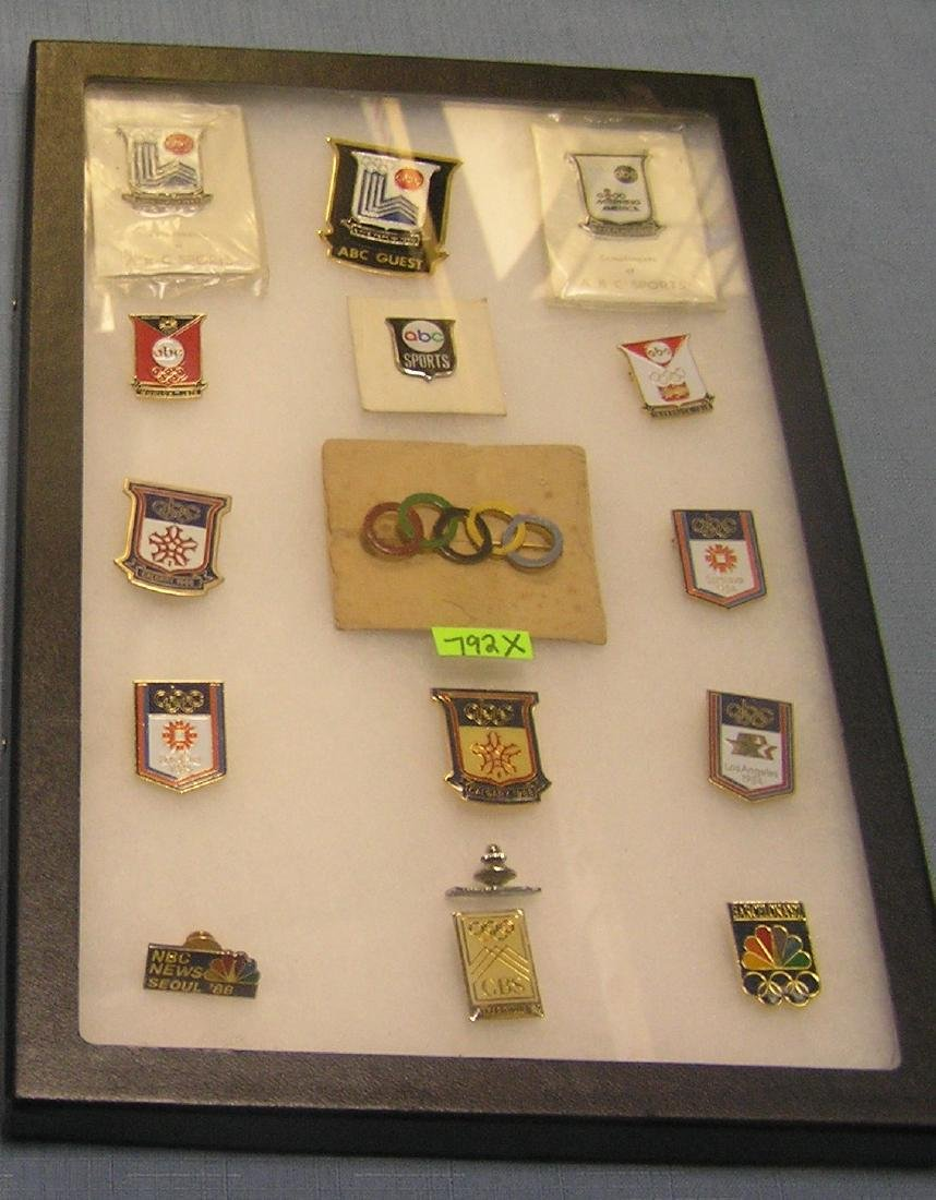 Collection of vintage Olympic pins