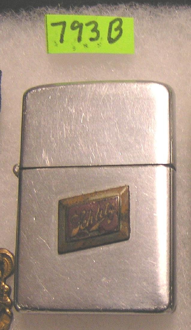 Early Schlitz beer Zippo cigarette lighter