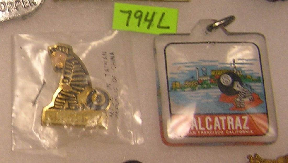 Pair of contemporary Alcatraz souvenirs