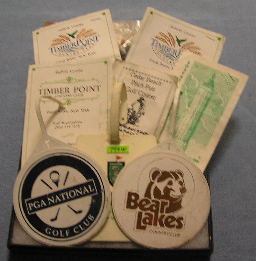 Group of vintage golf collectibles