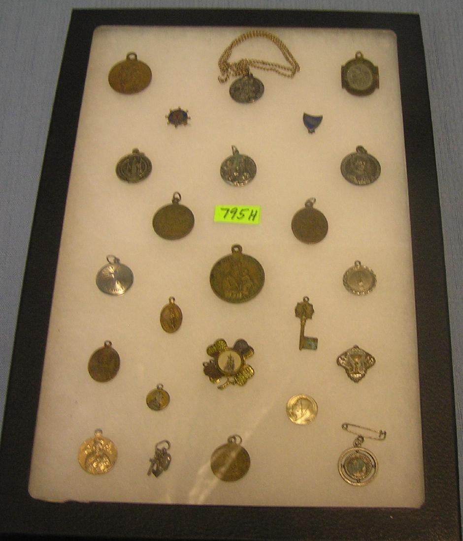 Large collection of early religious medals