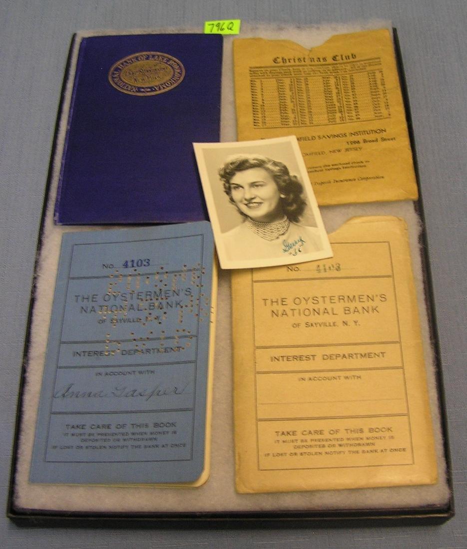 Pair of early LI Bank savings books