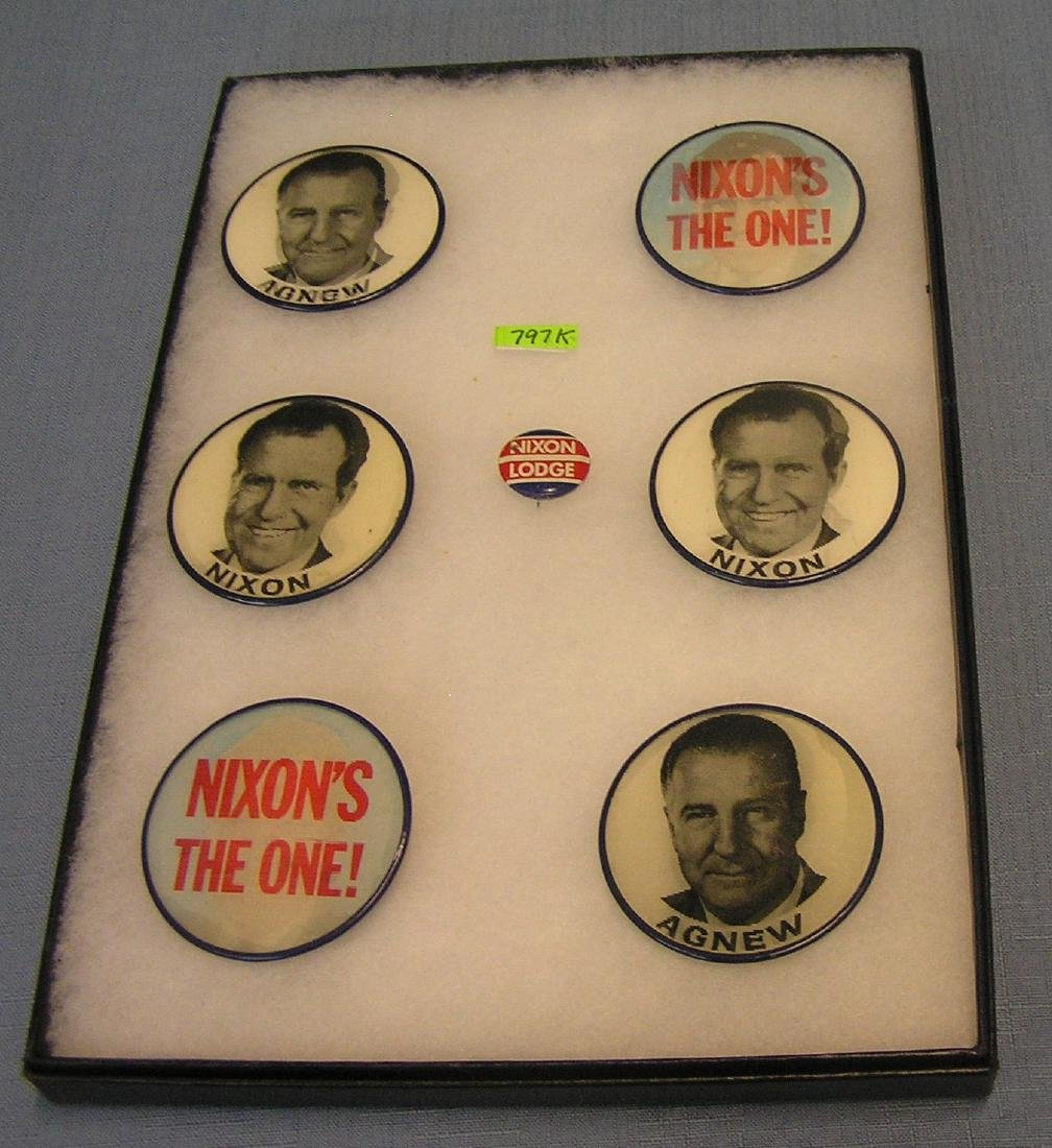 Nixon and Agnew pictorial campaign buttons