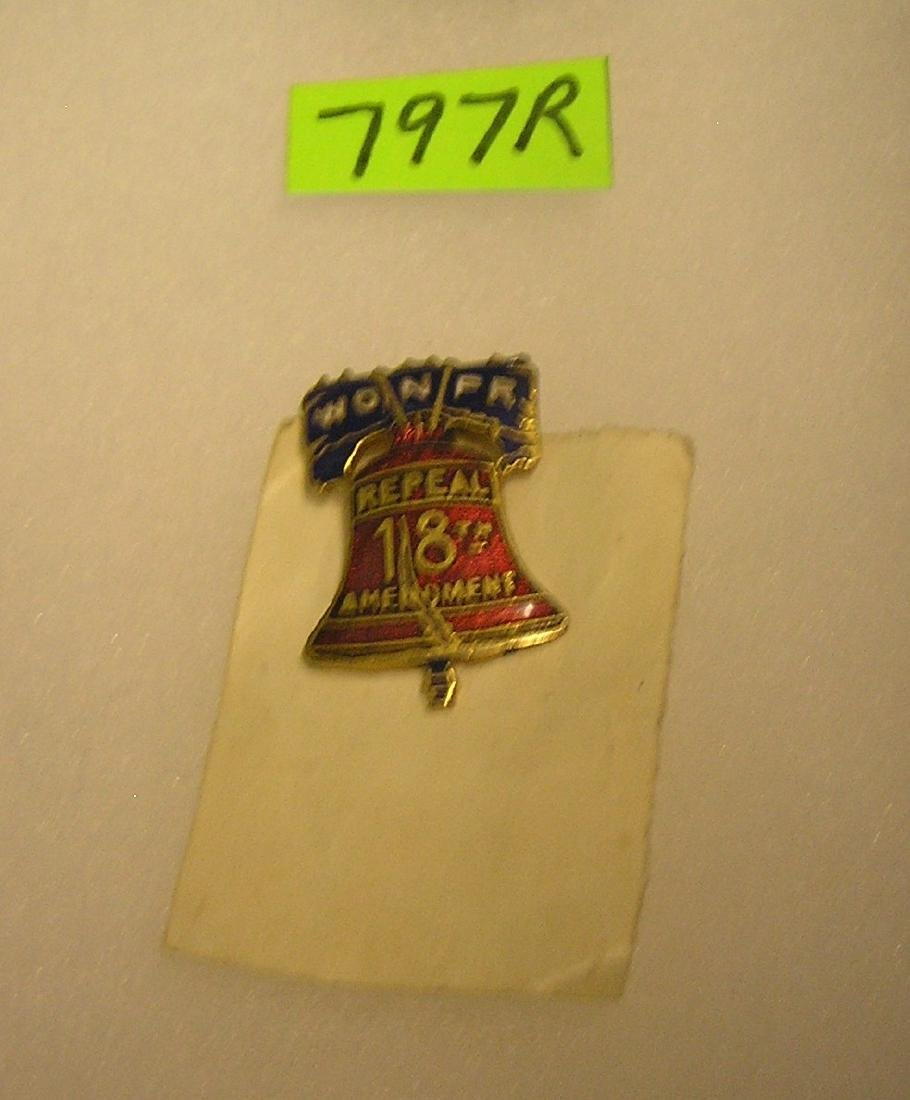 Vintage W.O.N.P.R Brass and enamel badge