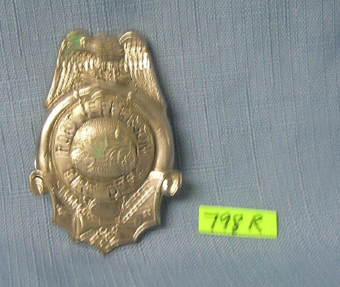 Antique Port Jeff NY fire department badge