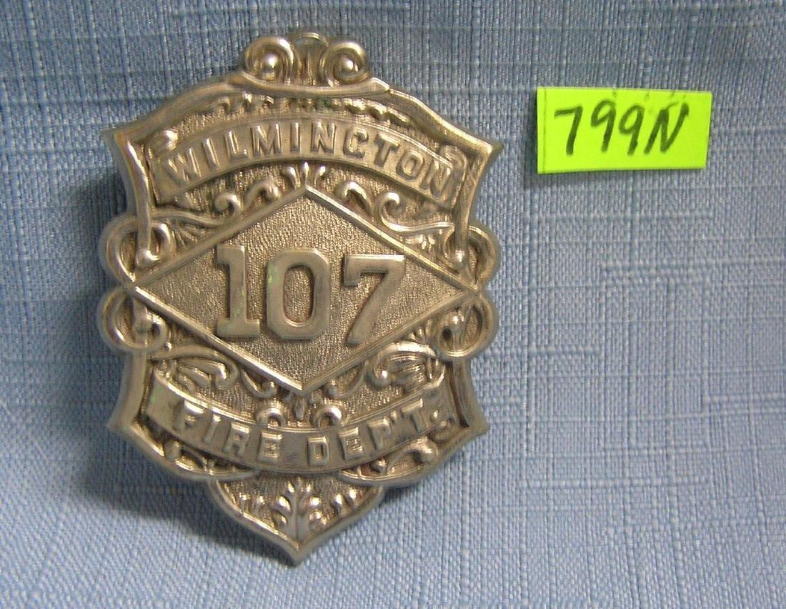 Antique Wilmington fire dept badge