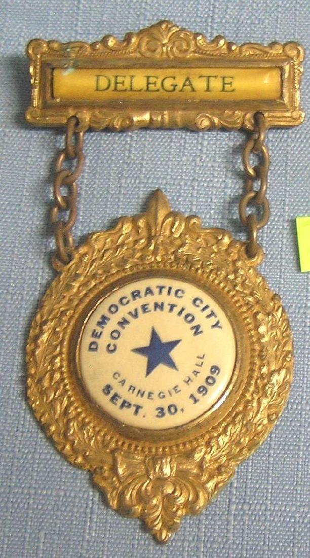 Carnegie hall democratic convention badge