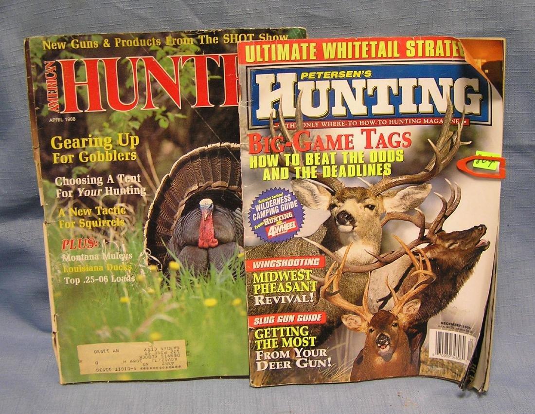 Pair of hunting magazines