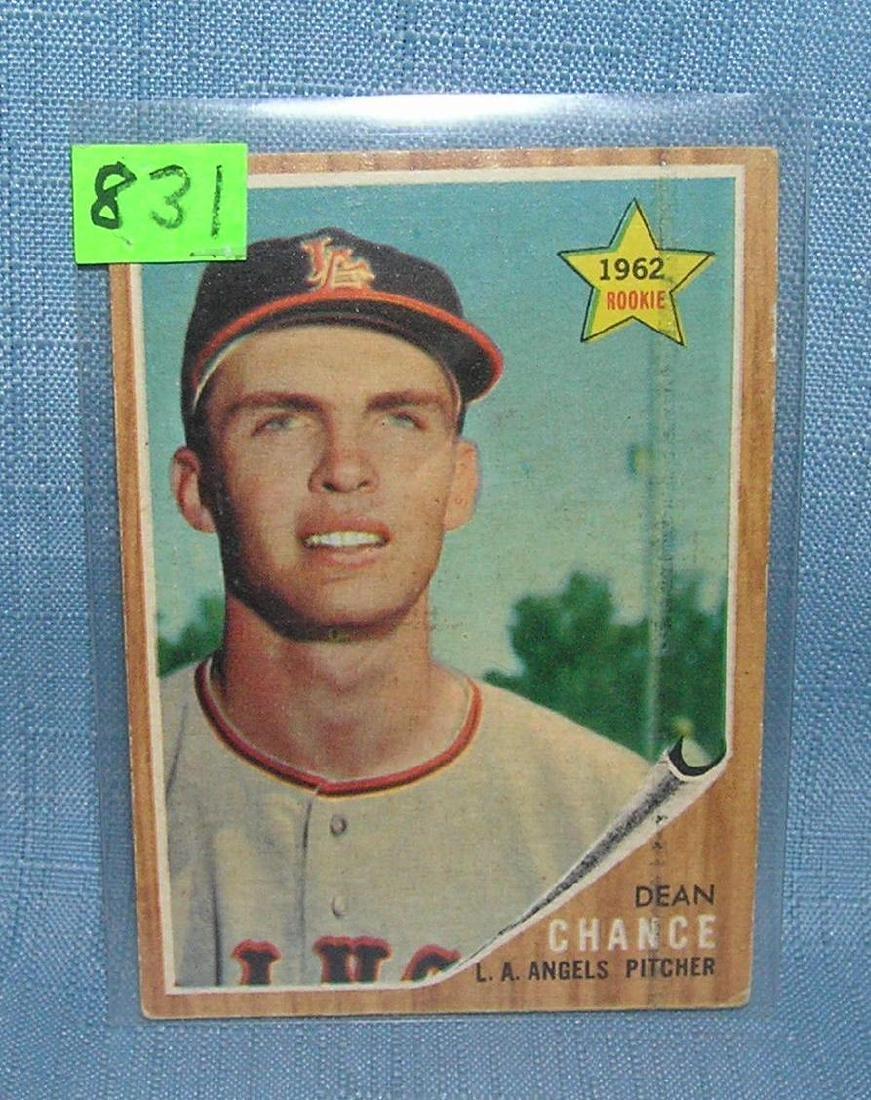Dean Chance rookie baseball card 1962